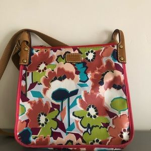 Fossil Crossbody Bag with Floral Design